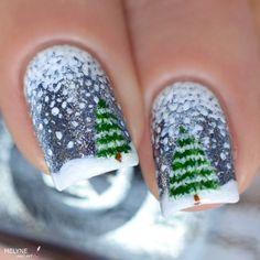 nail-art-hiver-neige-et-sapin-winter-nails-3