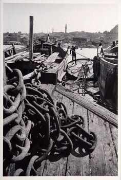 İstanbul'un Hafızası: Ara Güler.1969 Balat'ta tekneler, Haliç