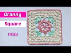 Tutorial granny square crochet paso a paso - YouTube