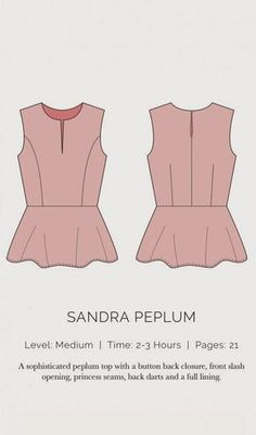 Sandra Peplum Sewing Pattern Spit Up & Stilettos Peplum top sewing pattern. Print on letter paper. Sewing Patterns Free, Free Sewing, Clothing Patterns, Free Pattern, Pattern Print, Sewing Hacks, Sewing Tutorials, Sewing Crafts, Sewing Projects