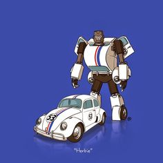 HerbieIf Pop Culture's Coolest Cars Were 'Transformers'  #transformers #herbie #volkswagon