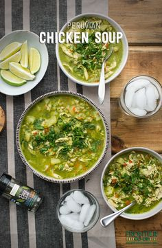 A warm, hearty Peruvian soup made with chicken, vegetables, cilantro and lime, then brought to life with organic cumin and bay leaf.