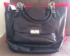 NWT COACH Kristin Pinnacle Black Large Leather Tote Handbag NWT MSRP $698