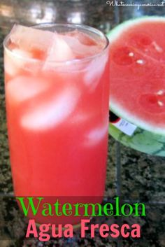 This wonderful watermelon agua fresca drink is a very light bodied and refreshing fruit drink combined with sweetener (traditionally sugar) and water. Fresca Drinks, Fruit Drinks, Smoothie Drinks, Detox Drinks, Smoothie Recipes, Smoothies, Summer Beverages, Fruit Fruit, Fruit Kabobs