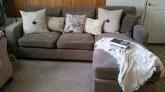 Pillows and a throw really dress up a couch