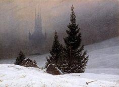 Friedrich, Caspar David (b,1774)- Snowy Day w Church, 1811