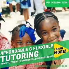 Are you ready to start with your child's education? Get started with Apex! We have qualified and professional Tutors ready to help you in your child's education. Our sessions are tailored according to each student's strengths and weaknesses, making sure your child gets the best of Education. Contact Us Today to get started! 068 035 1845/ 067 015 9855 Home Tutors, Malcolm X, Online Lessons, Kids Education, Number One, Get Started, Homeschool, Student, Learning