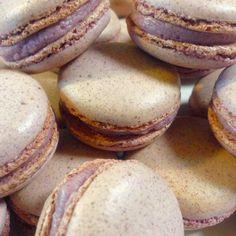 Purple Sweet Potato Macarons. #baking #sweetpotato #macaron