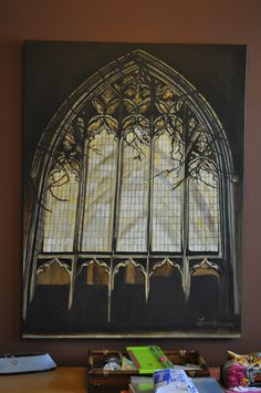 Cathedral window in oil by Lara Hannam