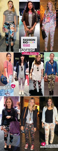 Fashion Rio, verão 2013, Street Style, Calça Florida, Estilo, looks, como usar, Marie Victorino, Renner, GWS, Tendência, trend, floral