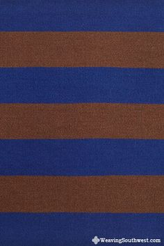 Your Daily Dose of Inspiration! Untitled #1 (Blue, Brown), original handwoven tapestry by Cornelia Theimer Gardella