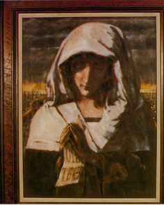 Hidden Gem: Harold Riley's 1983 painting of Our Lady of Manchester Saint Mary Catholic, Salford, Our Lady, Manchester, Artsy, Gems, Industrial, Hands, Paintings