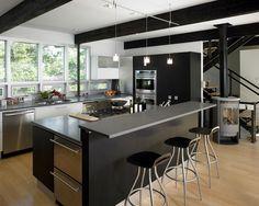 Especial cocinas en color negro. Black kitchens