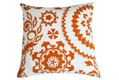 Suzani 20x20 Pillow, Orange. Love this!