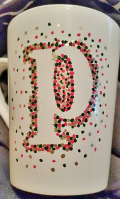 These hand painted coffee mugs are one of a kind. Every single one of these are personalized and custom made. You can pick two different