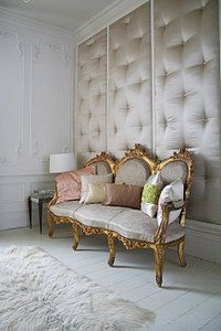 upholstered wall. I bet i could do this my self behind my bed