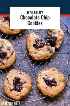 Brisket Chocolate Chip Cookies - The smoky saltiness of brisket accentuates and moderates the sweetness of the chocolate chip cookie.