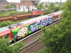 Stewie Griffin on a train, by LF - GMS. Train-bombing in Germany!