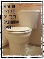 Easy DIY tip for ridding your bathroom of the dreaded 'boy bathroom smell'. Oh my gosh boy bathroom smell totally exists. Boy Bathroom Smell, Bathroom Cleaning, Bathroom Storage, Bathroom Ideas, Cleaners Homemade, Diy Cleaners, Cleaning Recipes, Cleaning Hacks, Deep Cleaning