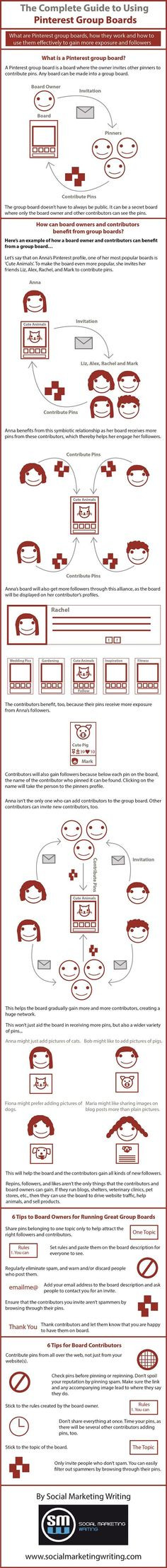 A Guide to Pinterest Group Boards #pinterest #infographic
