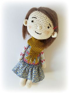 *************************************************************************************************** This is an English pdf ebook to learn how to crochet a doll, NOT a physical item! ****************************************************************************************************  ***The pattern comes in a PDF file and is 10 pages long, there are many pictures to help assist you during your crochet adventure. This pattern is easy to follow but requires basic crochet knowledge. Its…