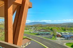 These luxury condos overlook the scenic Smoky Mountains in the distance.