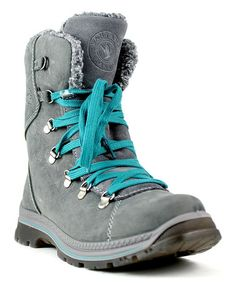 Look what I found on #zulily! Gray Massima Leather Boot #zulilyfinds