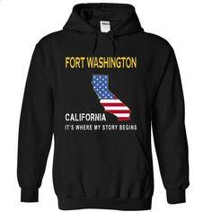 FORT WASHINGTON - Its Where My Story Begins - #yellow hoodie #funny tees. BUY NOW => https://www.sunfrog.com/States/FORT-WASHINGTON--Its-Where-My-Story-Begins-xugea-Black-14443920-Hoodie.html?id=60505