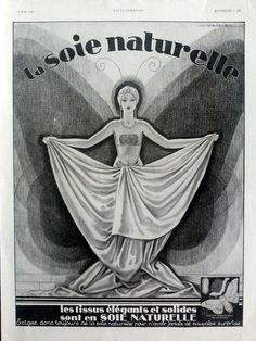 Soie Naturelle, vintage advertisement for pure silk products original poster https://www.etsy.com/listing/210107726/soie-naturelle-vintage-advertisement-for?ref=related-6&utm_content=buffera1da4&utm_medium=social&utm_source=pinterest.com&utm_campaign=buffer #Etsymntt #a4team
