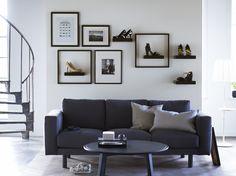 NORSBORG 3-zitsbank | #IKEA #IKEAnl #bank #donkergrijs #zithoek #interieur