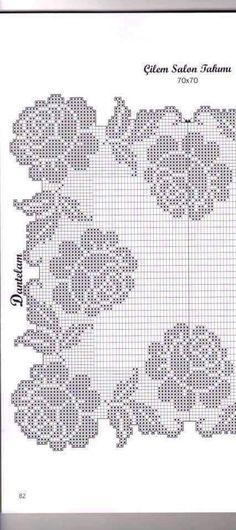 Belíssimo trilho de crochê, Maravilhoso! Segue aqui o gráfico..