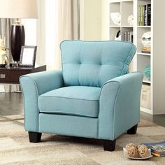 Furniture of America Primavera Modern Linen Chair - Overstock™ Shopping - Great Deals on Furniture of America Living Room Chairs