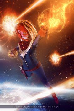 Captain Marvel Soars in Newest Clint and Jillian Cosplay Photoshoot — GeekTyrant