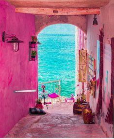 Dieser Flur in Rovinj Kroatien - This hallway in Rovinj Croatia - Wonderful Places, Beautiful Places, Beautiful Pictures, Places To Travel, Places To Go, Pink Street, Travel Aesthetic, Pink Aesthetic, Belle Photo