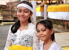 Smiling Girls at Ceremony - Smiling Girls at Ceremony