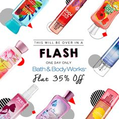 Shop for delicious body mists to lush shower gels at 35% off on Bath & Body Works! Make sure you don't miss out #FlashSale #InstaLove #InstaDaily #NykaaLoves #Beauty #Makeup