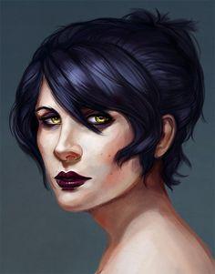 eristhenat:  it's honestly a crime I haven't painted Morrigan sooner