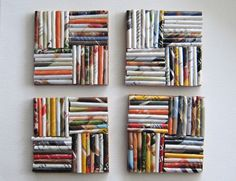 22 Ways to Recycle Old Magazines for Home Decor Magazin 22 Ways to Recycle Old Magazines for Home Decor Recycled Magazine Crafts, Recycled Paper Crafts, Recycled Decor, Recycled Magazines, Upcycled Home Decor, Old Magazines, Recycled Jewelry, Rolled Magazine Art, Home Crafts