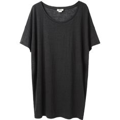 Acne Above Linen Oversized Tee ($140) ❤ liked on Polyvore