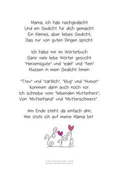Muttertagsgedicht für Kinder