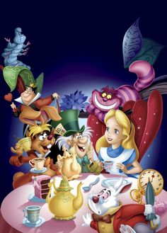 Alice In Wonderland - Walt Disney Disney Cinema, Art Disney, Disney Kunst, Disney Movies, Disney Pixar, Alice Disney, Film Disney, Alice In Wonderland Animated, Alice In Wonderland Characters