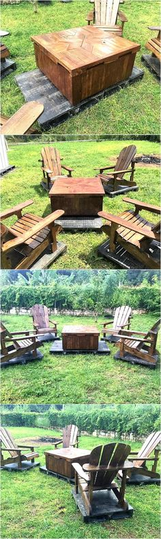 patio-furniture-set-made-with-wooden-pallets
