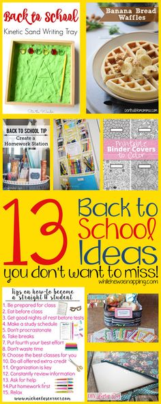 13 of the Best Back to School Ideas you don't want to miss. Stay organized and focus and rock BTS season!