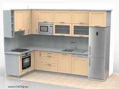 Rohová paneláková kuchyně
