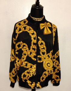 90s Chain Link Jacket by thatVideoVAMPvintage on Etsy, $30.00