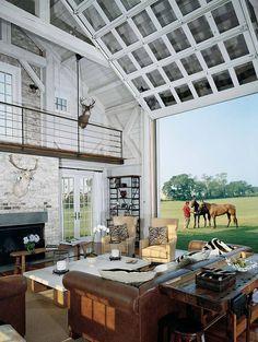 A garage door in your living room- brilliant!