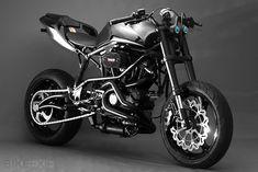Not the biggest sport bike fan, but this custom Ducati tooks nice. Buell custom motorcycle by Santiago Chopper