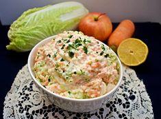 Surówka z kapusty pekińskiej z chrzanem Guacamole, Potato Salad, Mexican, Potatoes, Ethnic Recipes, Food, Potato, Essen, Meals
