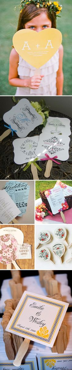 Warm Summer Wedding Idea Alert! What a fun and creative way tor keep your guests cool! :-)