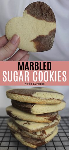 Vanilla Bean & Chocolate Marbled Sugar Cookies (Vegan)